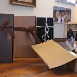 Confezioni regalo Les Crêtes: astucci in cartonicino per 2 bottiglie 0.75L