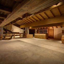 Rifugio del vino: la sala di degustazione in fase di allestimento