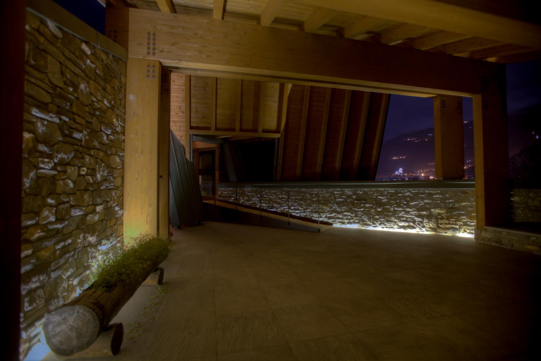Rifugio del Vino: la terrazza di notte