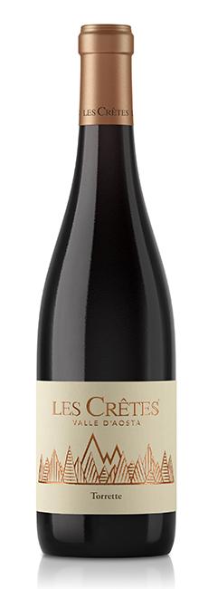 I Rossi Les Crêtes: il Torrette, vinificato a base prevalente Petit Rouge, è il vitigno autoctono più diffuso ed è tradizionalmente consumato a tutto pasto.