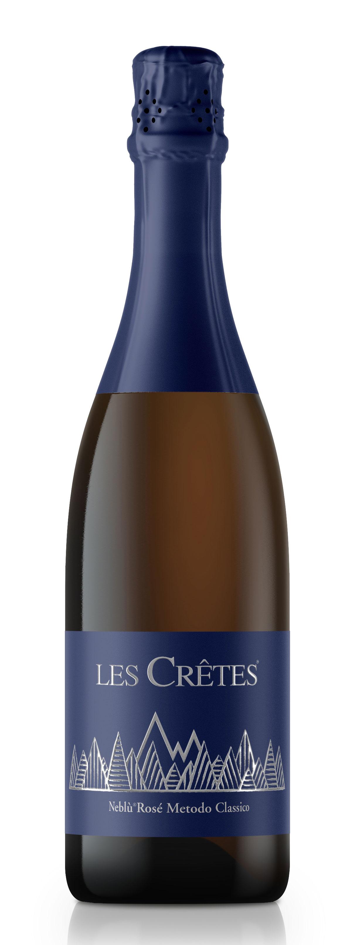 Bollicine Les Crêtes: Neblù Rosé Metodo Classico Vino Spumante Brut