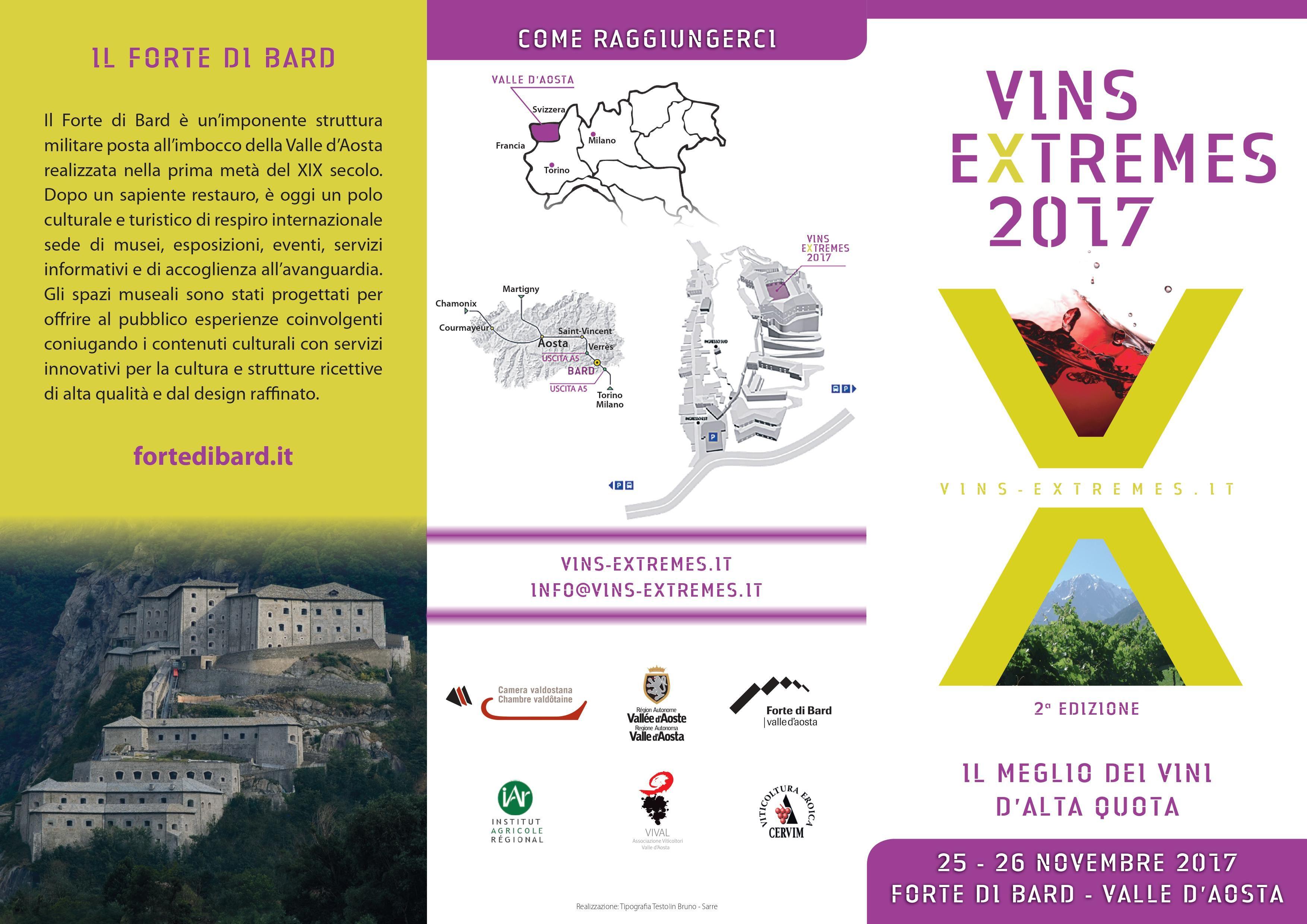 VINS EXTREMES 2017 – IL MEGLIO DEI VINI D' ALTA QUOTA -25/26 NOVEMBRE