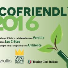 """Les Crêtes premiata """"Ecofriendly 2016"""""""