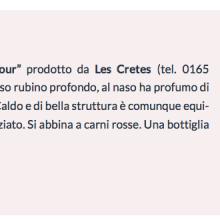 """Recensione del nostro Valle d'Aosta Syrah """"Coteau la Tour"""" su IlGolosario.it"""