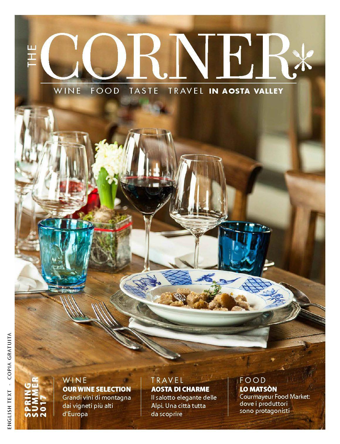 Nuova rivista The CORNER – Wine, food, taste & travel in Aosta Valley