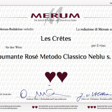 Ottimo punteggio assegnato da Merum ai vini Les Cretes