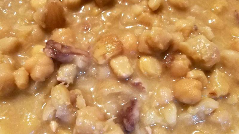 Zuppa di ceci e castagne con Torrette Superiore 2017 Les Crêtes