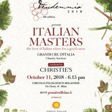 Italian Masters Asta Charity 11.10.2018 – Grandi Cru d'Italia