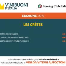 Vinibuoni d'Italia: 4 stelle Fumin 2016 e Nebbiolo Sommet 2016
