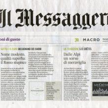 Franco M. Ricci parla del nostro Neige d'Or sul Messaggero