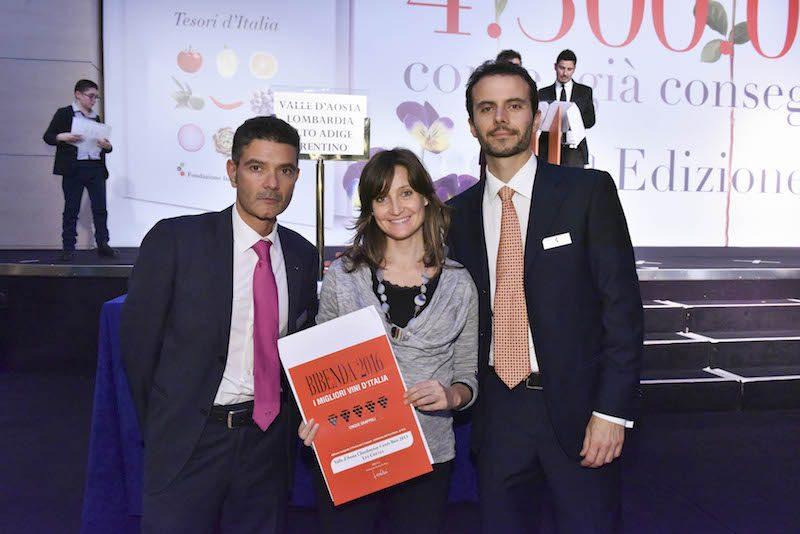 Les Crêtes alla presentazione nazionale della Guida BIBENDA 2016