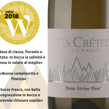 """Medaglia d'oro alla PETITE ARVINE FLEUR 2017 alla """"WOW! The Italian Wine Competition"""":"""